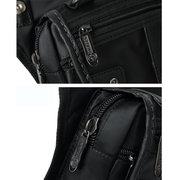 Sac à dos pour ordinateur portable pour hommes Nylon Sac de voyage solide noir