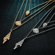 Bohemian Shell Pendant Multi-layer Necklace Conch Chain Necklace Vintage Jewelry for Women