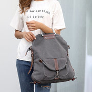 Women Multi-functional Casual Messenger Bag Canvas Crossbody Bag Backpack