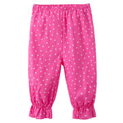 Soft Cotton Pink Dot Printing Girl Harem Style Pants For 2Y-9Y