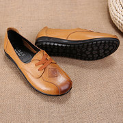 Large Size Leather Flat Shoes