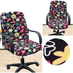 Office Computer Chair Cover Side Zipper Design Arm Fabric Art Chair Slipcover Multi Sizes Choices