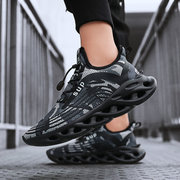 New Men's Shoes Breathable Mesh Casual Shoes Non-slip Sneakers Cushioning Running Shoes Large Size Thick Bottom Increase