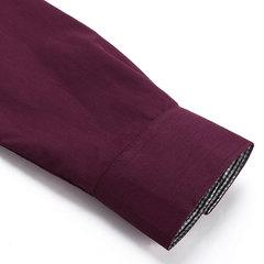 Camisa de etiqueta entallada con detalle cuadrado con solapa y botones de manga larga para hombres