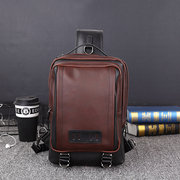 Large Capacity Vintage Casual Outdoor Sling Bag Chest Bag Crossbody Bag For Men