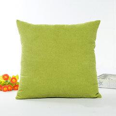 Square Candy Color Corn Cushion Cover Capa de travesseiro de algodão Cobertura de escritório Back Cushion Home Decor