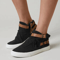 Women Canvas Buckle Fashion Casual Flat Casual Skate Shoes