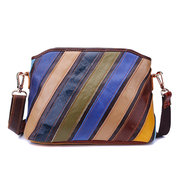 Women Patchwork Striped Shell Shoulder Bags Crossbody Bags