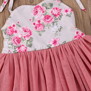 Flower Girls Dresses Strap Patchwork Dress For 3-13 Years