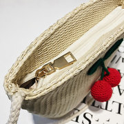 Straw Casual Light Travel Bucket Bags Shoulder Bags Crossbody Bags For Women