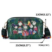 Mulheres Bohemian Forest Series Imprimir Crossbody Bags Mini Handbags