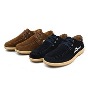 Men Canvas British Style Brearthable Lace Up Sport Casual Flat Shoes