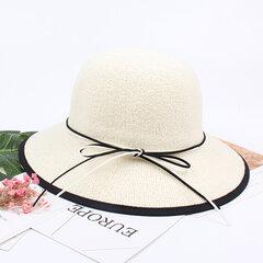Damen Summer Foldable Wide Brim Beach Sun Hut Atmungsaktiver Sonnenschutz-Eimer Hut