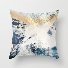 INS Abstract Color Painted Linen Cotton Throw Pillow Cover Windowsill Decor Home Sofa Pillowcases