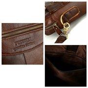 خمر حقيبة يد جلد طبيعي الأعمال حقيبة كروسبودي 14 ″ حقيبة كمبيوتر محمول للرجال