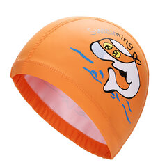 Girls Boy Printed Dolphin Swimming Hat Cartoon Waterproof PU Swimming Cap