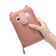 Damen Doppelseitige Multifunktions Clutch Bag Handytasche Umhängetasche