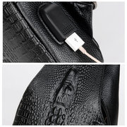 PU USB Charging Business High Capacity Chest Bags Retro Casual Crossbody Bags For Men