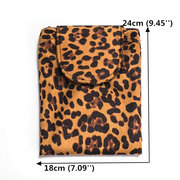 Leopard Print Lazy Makeup Bag Portable Travel Storage Bag Large-capacity Drawstring Storage Bag