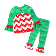 Christmas Kids Girls Clothing Sets T-shirts + Leggings Pants For 0-36M
