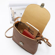 Women Vintage Mini Solid Crossbody Bags Concise Phone Bags