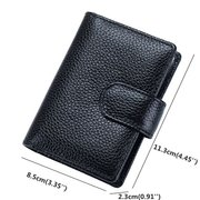 Women 16 Card Slots RFID Card Bag Genuine Leather Safe Multi-Card Slots Business Card Holder Bags