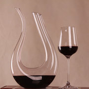 Luxurious Crystal Glass U-shaped Horn Wine Decanter Wine Pourer Red Wine Carafe Aerator