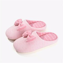 Stripe Home Indoor Bowknot Slip Slip sui Pattini invernali caldi