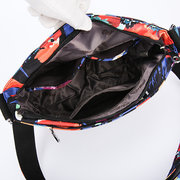 Women Nylon Floral Waterproof Bucket Bag Crossbody Bag