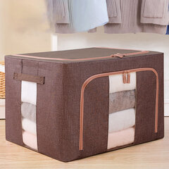 88L Large Capacity with Steel Frame Organizer Fold-able Waterproof 600D Oxford Fabric Storage Box