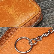 Vintage Echtes Leder Autoschlüssel Halter Schlüsseltasche Schlüsselbund Brieftasche Für Männer