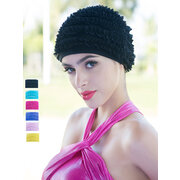 Seaside Sports Mixed-color High Elasticity Protect Ears Long Hair Swimming Caps