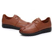Женское повседневные Soft удобные микрофибры на шнуровке плоские туфли