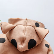 Girls Thicken Faux Chamois Leather Winter Coat For 1Y-7Y