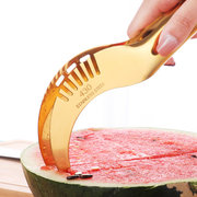 Stainless Steel Watermelon Slicer Melon Cutter Knife Fruit Segmentation Cantaloupe Slicer Scoop
