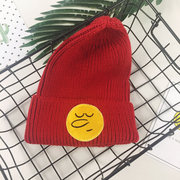 Kids Girls Boys Cartoon Long Nose Cute Knitted Cap Thick Warm Beanies Skullie Hats For 0-3 Years