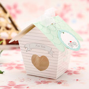 Mini House Candy Boxes Clear Heart Wedding Favor Gift
