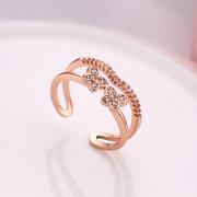 INALIS Luxury Ring Elegant Butterfly Zircon Women Ring Gift
