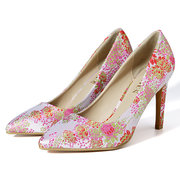 Shallow Birdcage High Heels Bling Embroidery Pumps For Women