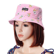 Chapeau de seau en coton de protection solaire vintage pour femmes