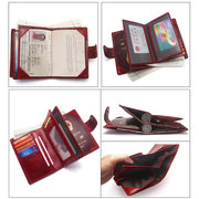 Women Cow Leather Retro Wallet Purse Vintage Coin Bag