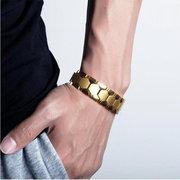 Mens Anion Magnetic Energy Bracelet 316L Stainless Steel Health Bracelet