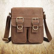 Genuine Leather Casual Retro Single-shoulder Bag Crossbody Bag For Men