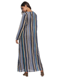 Casual Striped Long Sleeve Dresses for Women