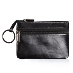 Genuine Leather Small Portable Coin Bag Card Holder Key Bags