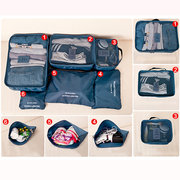 6Pcs Waterproof Cube Travel Storage Bags Clothes Pouch Nylon Luggage Organizer Travel Bag