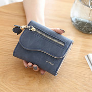 Складной стильный кожаный PU маленький кошелек Кошелек для Женское