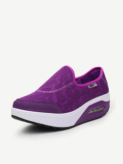 Breathable Pure Color Shoes Women Platform Casual Shoes