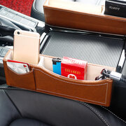Leather & Luxurious Car Storage Box Car Rack Storage Bag Multi-function Seat Cassette Storage Box