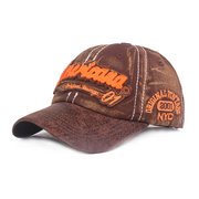 Men Washed Cotton Embroidered Letter Pattern Breathable Sunshade Fashion Baseball Cap